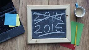 Año Nuevo en la oficina Imágenes de archivo libres de regalías