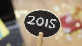 Año Nuevo en la oficina Fotos de archivo libres de regalías