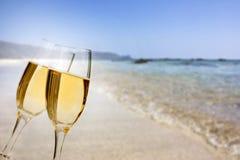 Año Nuevo en la playa Fotos de archivo libres de regalías