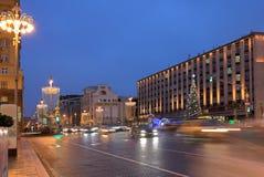 Año Nuevo en las calles de Moscú Foto de archivo