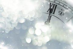 Año Nuevo en las luces de la medianoche y del día de fiesta Fotografía de archivo libre de regalías