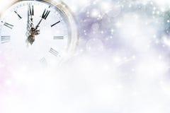 Año Nuevo en las luces de la medianoche y del día de fiesta Fotos de archivo