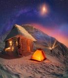 Año Nuevo en las montañas Fotografía de archivo