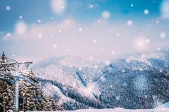 Año Nuevo en las montañas Imagen de archivo