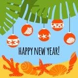 Año Nuevo en las zonas tropicales Fotos de archivo