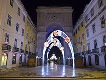 Año Nuevo en Lisboa Foto de archivo libre de regalías