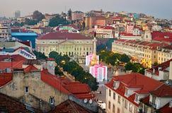 Año Nuevo en Lisboa Imágenes de archivo libres de regalías