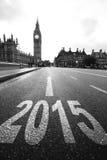 Año Nuevo en Londres Imágenes de archivo libres de regalías