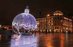 Año Nuevo 2015 en Moscú Foto de archivo libre de regalías