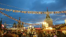 Año Nuevo en Moscú Foto de archivo libre de regalías