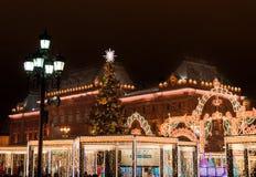 Año Nuevo en Moscú Fotos de archivo libres de regalías