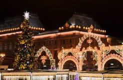 Año Nuevo en Moscú Fotografía de archivo libre de regalías