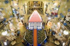 Año Nuevo en Moscú. Casa de comercio de la GOMA Imágenes de archivo libres de regalías