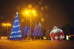 Año Nuevo en parque Fotografía de archivo libre de regalías