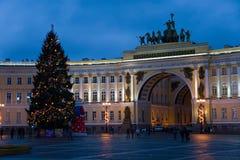 Año Nuevo en Petersburgo Fotografía de archivo