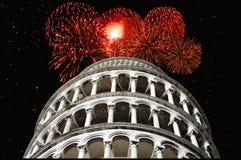 Año Nuevo en Pisa Foto de archivo libre de regalías