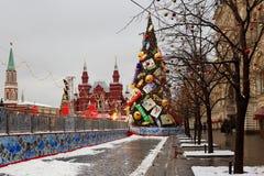 Año Nuevo en Plaza Roja en Moscú Fotos de archivo