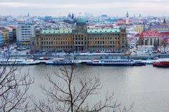 Año Nuevo en Praga La visión desde la altura Fotografía de archivo