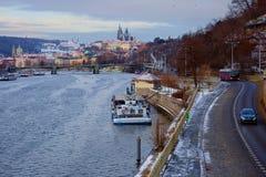 Año Nuevo en Praga La visión desde la altura Foto de archivo