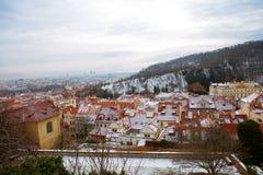Año Nuevo en Praga La visión desde la altura Imagenes de archivo