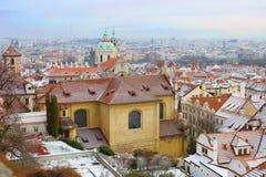 Año Nuevo en Praga La visión desde la altura Fotos de archivo libres de regalías