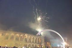 Año Nuevo en Verona Foto de archivo libre de regalías