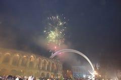 Año Nuevo en Verona Fotografía de archivo libre de regalías