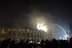 Año Nuevo en Verona Imagenes de archivo
