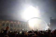 Año Nuevo en Verona Foto de archivo