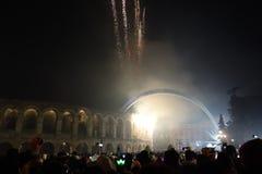 Año Nuevo en Verona Imágenes de archivo libres de regalías