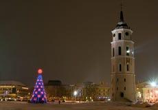 Año Nuevo en Vilnius Imagenes de archivo