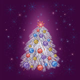 Año Nuevo festivo brillante y tarjeta de Navidad Imagen de archivo