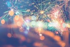 Año Nuevo festivo del fondo Imagen de archivo libre de regalías