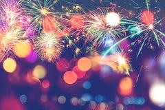 Año Nuevo festivo del fondo Fotos de archivo libres de regalías
