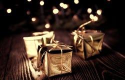 Año Nuevo, fondo del vintage de la Navidad Imagen de archivo