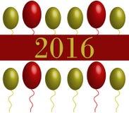 Año Nuevo ilustrado Fotografía de archivo libre de regalías