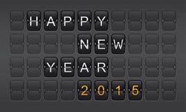 Año Nuevo 2015, invitación, cuenta descendiente, celebración Imagen de archivo