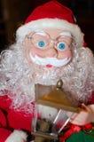 Año Nuevo, la Navidad, día de fiesta, vacaciones de invierno, Papá Noel, postal, enhorabuena Fotografía de archivo libre de regalías