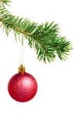 Año Nuevo. La Navidad. Decoración del árbol. Fotografía de archivo