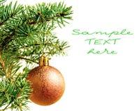 Año Nuevo. La Navidad. Decoración del árbol. Fotos de archivo libres de regalías
