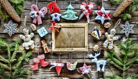 Año Nuevo La Navidad juega hecho en casa y la decoración, Fotografía de archivo
