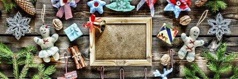 Año Nuevo La Navidad juega hecho en casa y la decoración, Imagenes de archivo