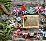 Año Nuevo La Navidad juega hecho en casa y la decoración, Fotos de archivo libres de regalías