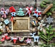Año Nuevo La Navidad juega hecho en casa y la decoración, Imagen de archivo