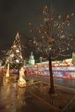 Año Nuevo Moscú Cuadrado rojo Fotos de archivo