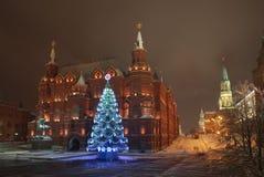 Año Nuevo Moscú de la noche Imagenes de archivo