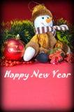 Año Nuevo, muñeco de nieve Fotos de archivo libres de regalías