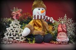 Año Nuevo, muñeco de nieve Foto de archivo