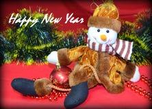 Año Nuevo, muñeco de nieve Imágenes de archivo libres de regalías
