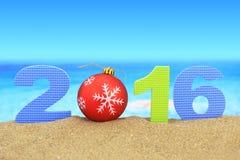 Año Nuevo número 2016 Fotografía de archivo